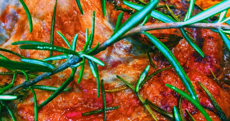 Roasted flap of Lamb with rosemary and garlic | National Dish Recipe of a boned rolled shoulder of lamb