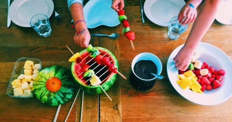 Have an indoor fruit BBQ for the kids | National Dish Fun Recipe